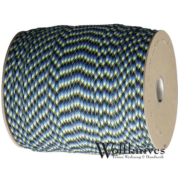 Paracord 550er - Blue snake (blau, schwarz, beige) - Meterware