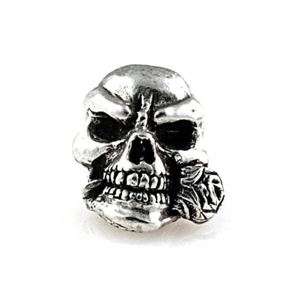Totenkopfperle Rose Skull