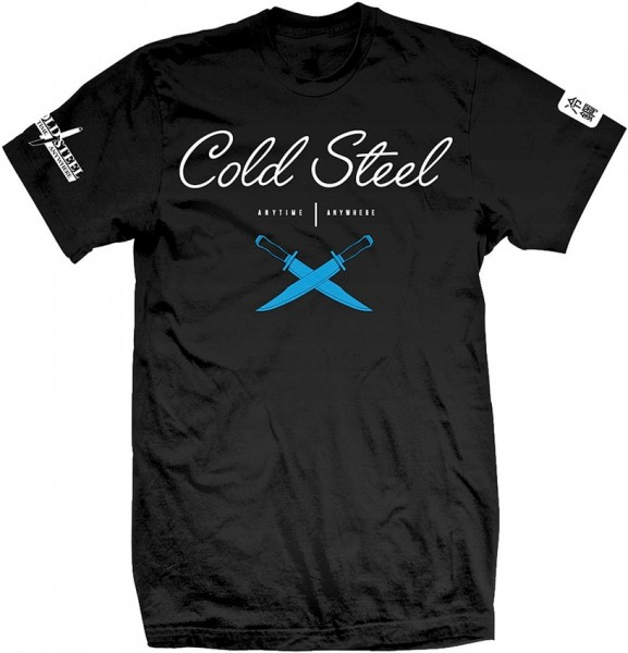 Cold Steel T-Shirt - Cursive Black Tee - XL