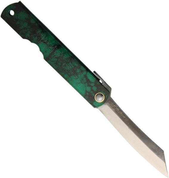 Japanisches Higonokami Taschenmesser N° 8 mit 3-Lagen Stahl in Jade Green