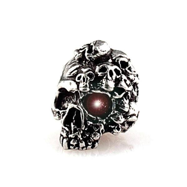 Totenkopf Perle Crazy Mind Skull