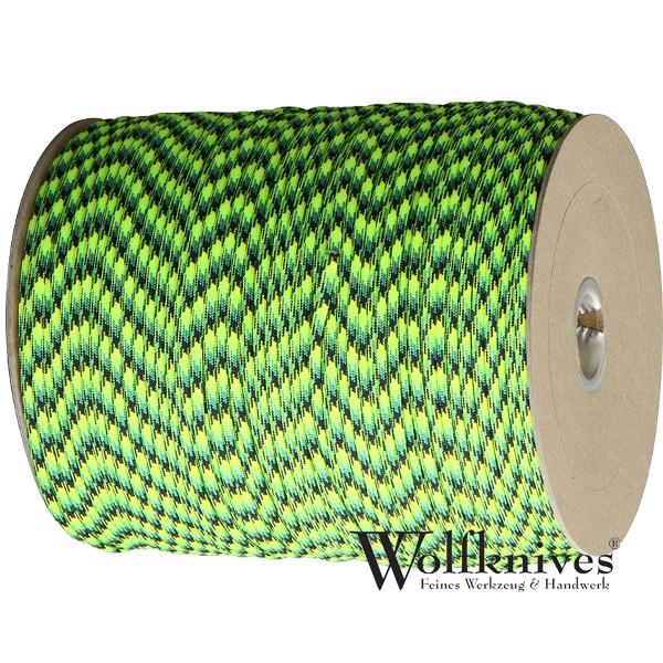 Paracord 550er - Gecko (neon grün, hellgrün, gelb, schwarz)